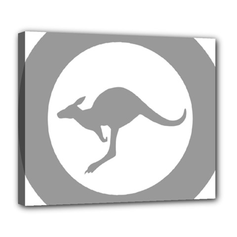 Low Visibility Roundel Of The Australian Air Force Deluxe Canvas 24  X 20   by abbeyz71
