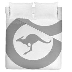 Low Visibility Roundel Of The Australian Air Force Duvet Cover Double Side (queen Size) by abbeyz71