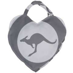 Low Visibility Roundel Of The Australian Air Force Giant Heart Shaped Tote by abbeyz71