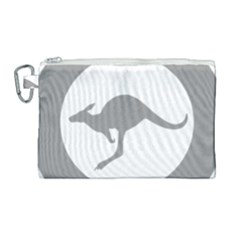 Low Visibility Roundel Of The Australian Air Force Canvas Cosmetic Bag (large) by abbeyz71