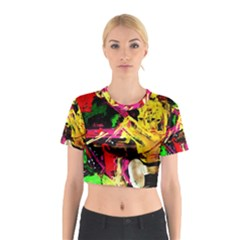 Spooky Attick 1 Cotton Crop Top by bestdesignintheworld