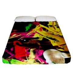 Spooky Attick 1 Fitted Sheet (queen Size) by bestdesignintheworld
