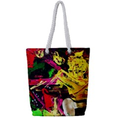 Spooky Attick 1 Full Print Rope Handle Tote (small) by bestdesignintheworld