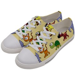 Group Of Animals Graphic Women s Low Top Canvas Sneakers by Sapixe
