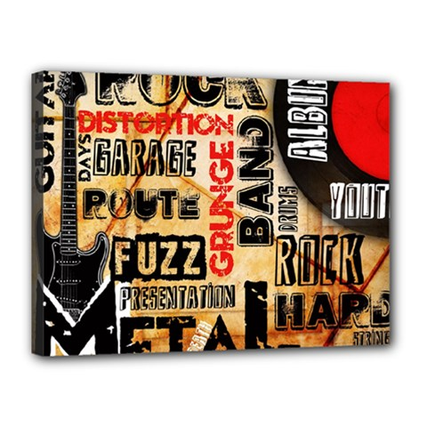 Guitar Typography Canvas 16  X 12  by Sapixe