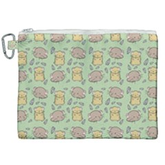 Hamster Pattern Canvas Cosmetic Bag (xxl) by Sapixe