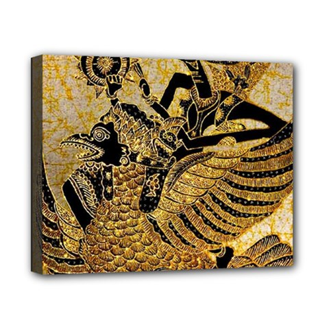 Golden Colorful The Beautiful Of Art Indonesian Batik Pattern Canvas 10  X 8  by Sapixe