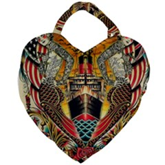 Hail Fine Art Print Giant Heart Shaped Tote by Sapixe