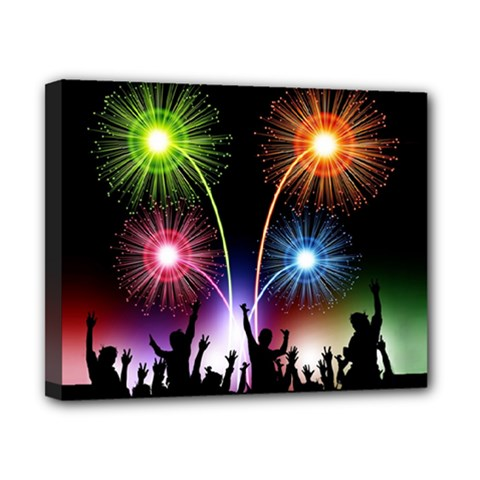 Happy New Year 2017 Celebration Animated 3d Canvas 10  X 8  by Sapixe