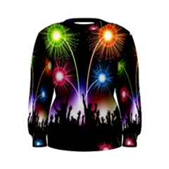 Happy New Year 2017 Celebration Animated 3d Women s Sweatshirt by Sapixe