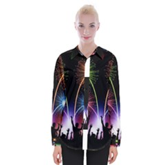 Happy New Year 2017 Celebration Animated 3d Womens Long Sleeve Shirt