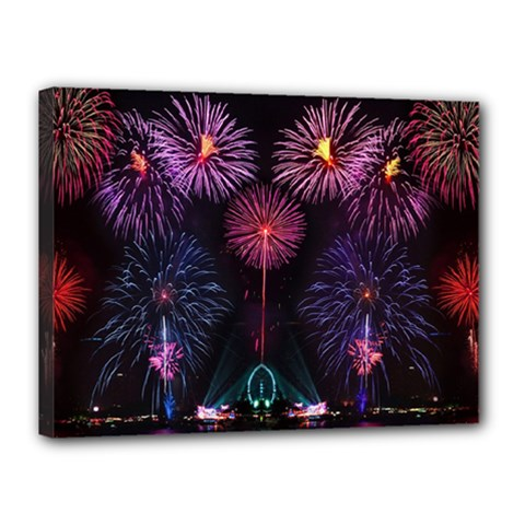 Happy New Year New Years Eve Fireworks In Australia Canvas 16  X 12  by Sapixe