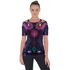 Happy New Year New Years Eve Fireworks In Australia Short Sleeve Top