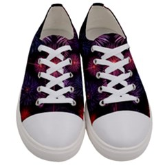 Happy New Year New Years Eve Fireworks In Australia Women s Low Top Canvas Sneakers