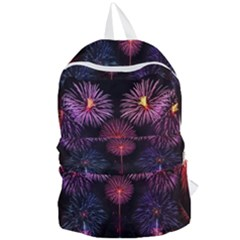 Happy New Year New Years Eve Fireworks In Australia Foldable Lightweight Backpack by Sapixe