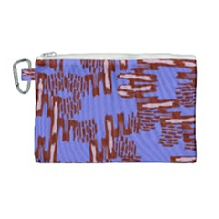 Ikat Sticks Canvas Cosmetic Bag (large) by Sapixe