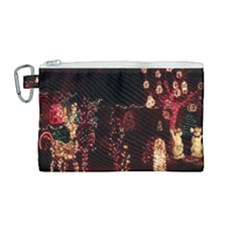 Holiday Lights Christmas Yard Decorations Canvas Cosmetic Bag (medium) by Sapixe