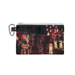 Holiday Lights Christmas Yard Decorations Canvas Cosmetic Bag (small) by Sapixe