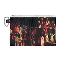 Holiday Lights Christmas Yard Decorations Canvas Cosmetic Bag (large) by Sapixe