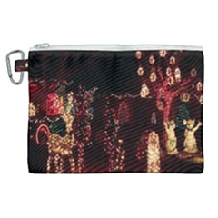 Holiday Lights Christmas Yard Decorations Canvas Cosmetic Bag (xl) by Sapixe
