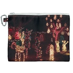 Holiday Lights Christmas Yard Decorations Canvas Cosmetic Bag (xxl) by Sapixe
