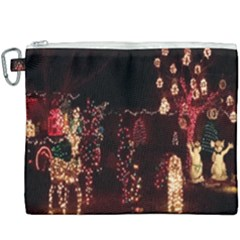 Holiday Lights Christmas Yard Decorations Canvas Cosmetic Bag (xxxl) by Sapixe