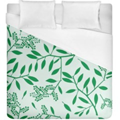 Leaves Foliage Green Wallpaper Duvet Cover (king Size)