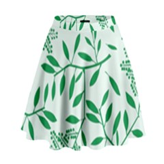 Leaves Foliage Green Wallpaper High Waist Skirt by Sapixe