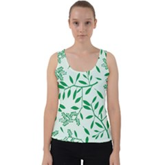 Leaves Foliage Green Wallpaper Velvet Tank Top by Sapixe