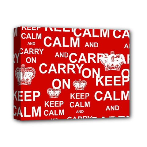 Keep Calm And Carry On Deluxe Canvas 14  X 11  by Sapixe