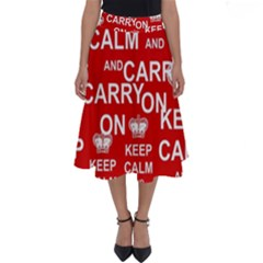 Keep Calm And Carry On Perfect Length Midi Skirt