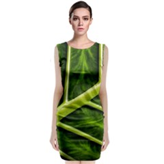 Leaf Dark Green Classic Sleeveless Midi Dress