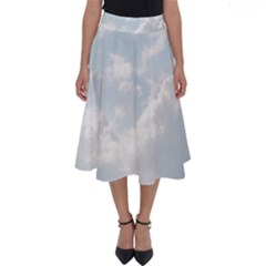 Light Nature Sky Sunny Clouds Perfect Length Midi Skirt