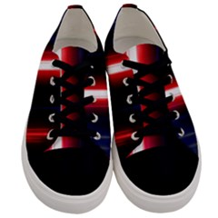 Lights Pattern Men s Low Top Canvas Sneakers