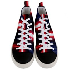 Lights Pattern Men s Mid Top Canvas Sneakers