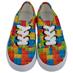 Lego Bricks Pattern Kids  Classic Low Top Sneakers
