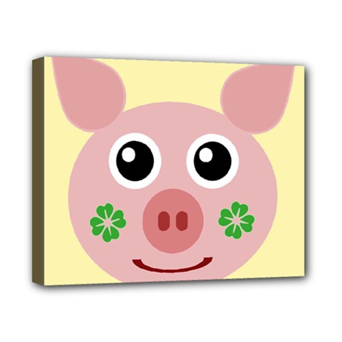 Luck Lucky Pig Pig Lucky Charm Canvas 10  X 8  by Sapixe