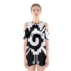 Maya Calendar Native American Religion Shoulder Cutout One Piece