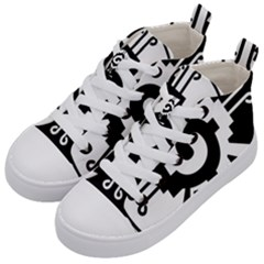 Maya Calendar Native American Religion Kid s Mid Top Canvas Sneakers by Sapixe