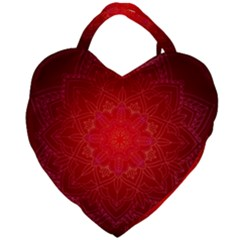 Mandala Ornament Floral Pattern Giant Heart Shaped Tote by Sapixe