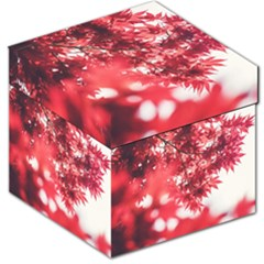 Maple Leaves Red Autumn Fall Storage Stool 12   by Sapixe
