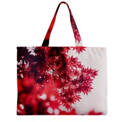 Maple Leaves Red Autumn Fall Mini Tote Bag by Sapixe