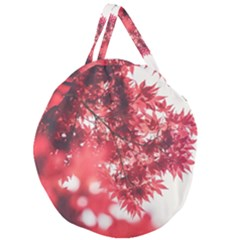 Maple Leaves Red Autumn Fall Giant Round Zipper Tote by Sapixe