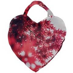 Maple Leaves Red Autumn Fall Giant Heart Shaped Tote