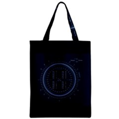 Minimalistic Knowledge Mathematics Trigonometry Zipper Classic Tote Bag by Sapixe