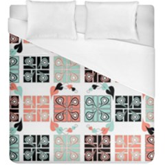 Mint Black Coral Heart Paisley Duvet Cover (king Size) by Sapixe