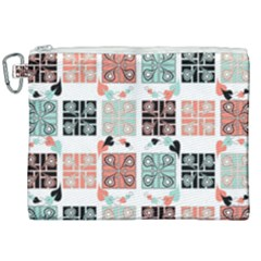 Mint Black Coral Heart Paisley Canvas Cosmetic Bag (xxl) by Sapixe