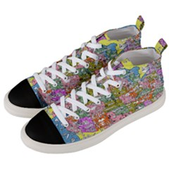 Mad Magazine Sadic Comics Humor Funny Comics Poster Men s Mid Top Canvas Sneakers by Sapixe