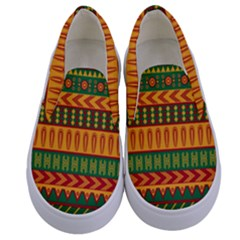 Mexican Pattern Kids  Canvas Slip Ons