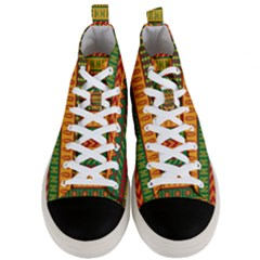 Mexican Pattern Men s Mid Top Canvas Sneakers